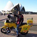 Riding the world -Bharadwaj Dayala